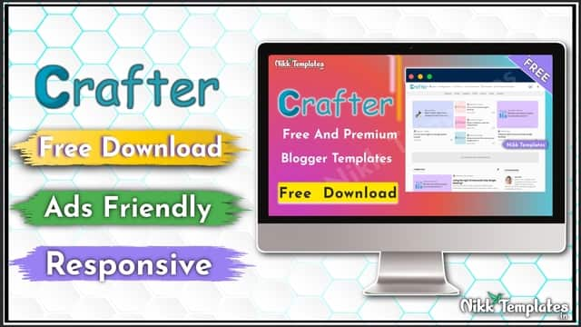 Crafter - Clean & Simple Blogger Templates - Nikk Templates