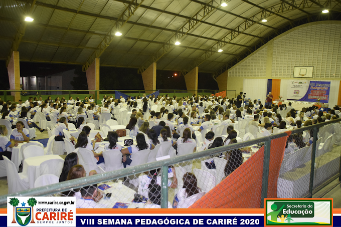 """Educação de Cariré realiza abertura da VIII Semana Pedagógica de 2020,  com o tema """"Inteligência Emocional e Social"""""""