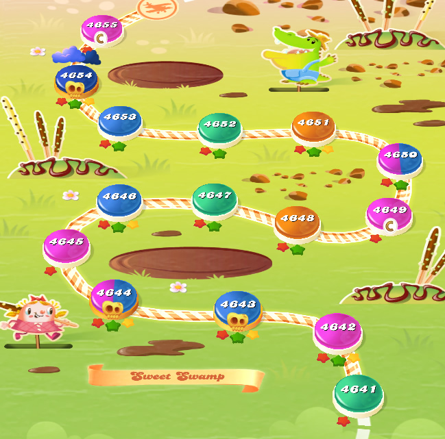 Candy Crush Saga level 4641-4655