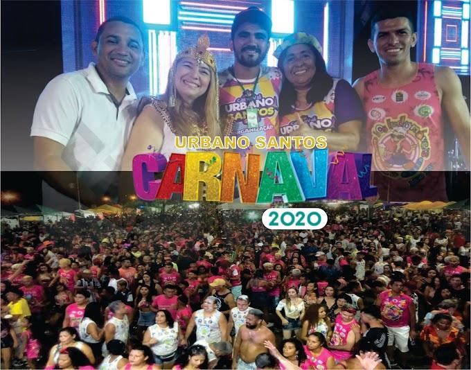 Com muita alegria e diversão multidão prestigia três dias de carnaval em Urbano Santos MA
