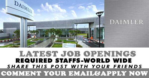 LATEST JOB OPENINGS IN DAIMLER JOB VACANTS