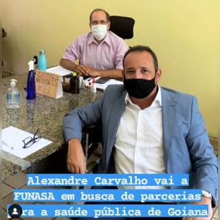 Vereador Alexandre Carvalho vai em busca de recursos para a saúde de Goiana
