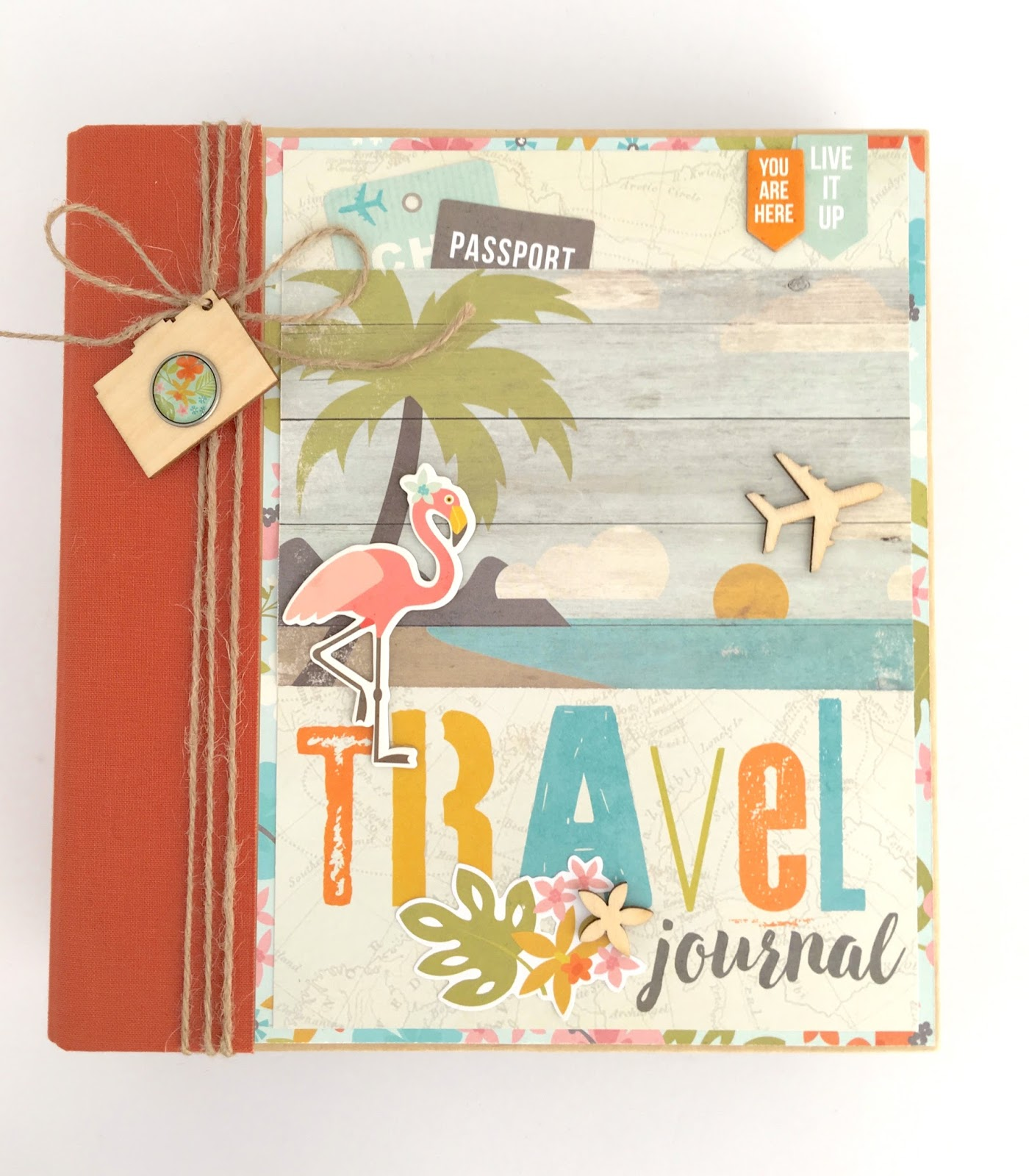 How to make scrapbook simple - This Album Is Available As A Diy Kit Or Pre Made And Will Make A Wonderful Keepsake For Photos Of Your Tropical Vacation Photos The Album Measures Slightly
