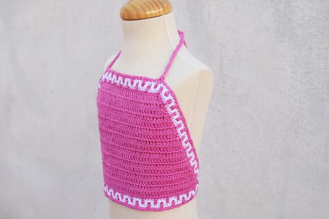 2 - Crochet Imagen Top halter de verano a crochet y ganchillo por Majovel Crochet