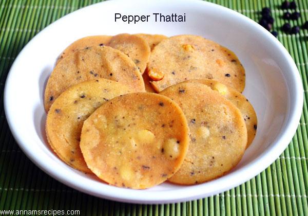 Pepper Thattai / Milagu Thattai