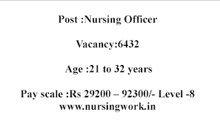 6432 Nursing Officers Recruitment 29,200 – 92,300 Pay Scale