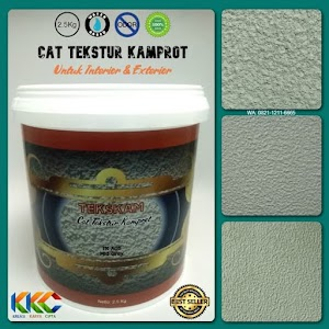 Kemasan 2.5Kg - Cat Tekstur Pasir Kamprot Warna Abu-Abu Sedang