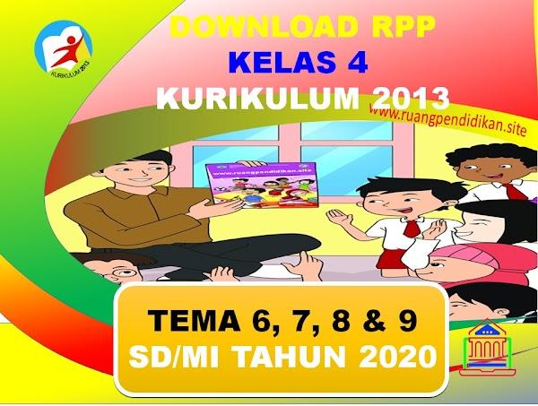 Unduh RPP 1 Lembar Kelas 4 SD/MI Tema 6,7,8, Dan 9 Kurikulum 2013