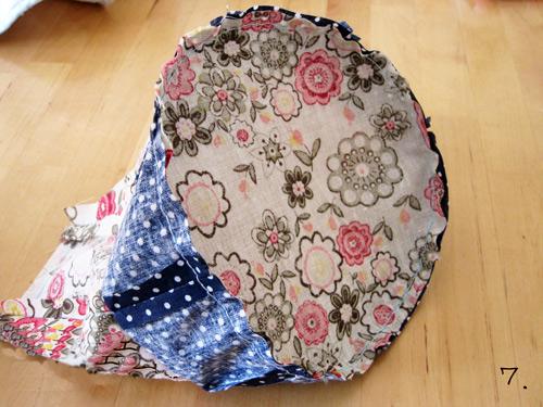 how to make drawstring bag shorter