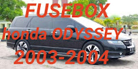 letak box sekring HONDA ODYSSEY 2003-2004