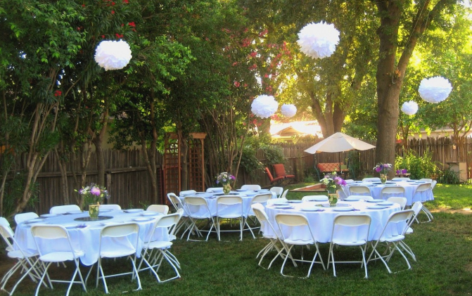 Outdoor Backyard Garden Wedding Ideas