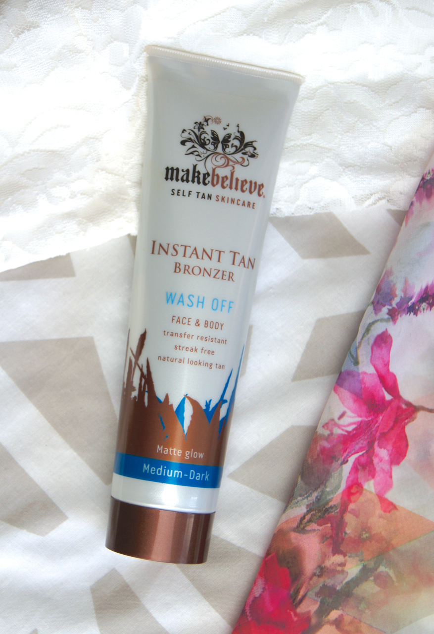 make believe instant tan wash off bronzer review