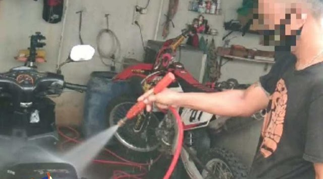 Pelatihan Cuci Motor WBP Lapas Narkotika Jakarta Dimasa Pandemi