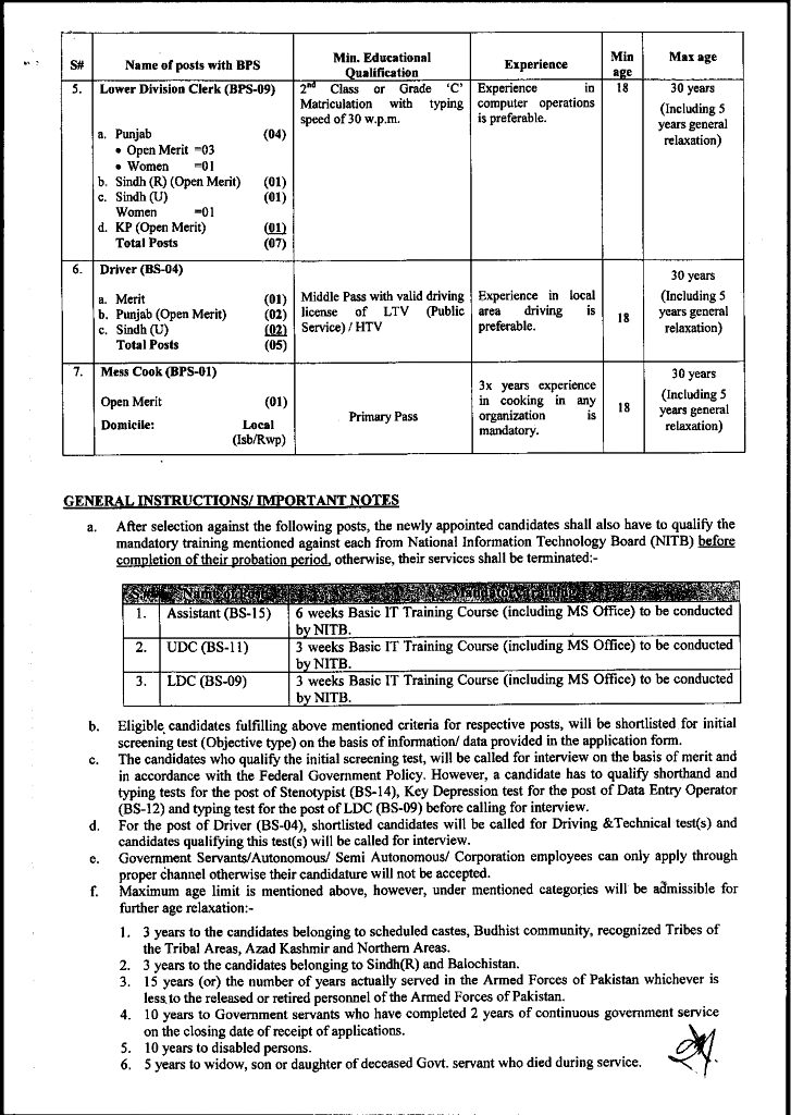 Latest Jobs in National Accountability Bureau NAB 2021-Application Form Download