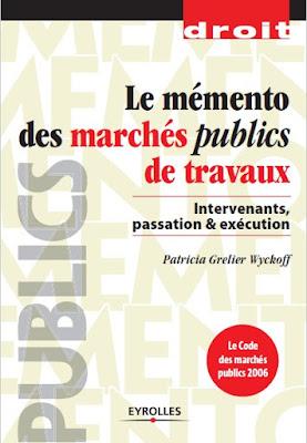 Télécharger Livre Gratuit Le mémento des marchés publics de travaux pdf