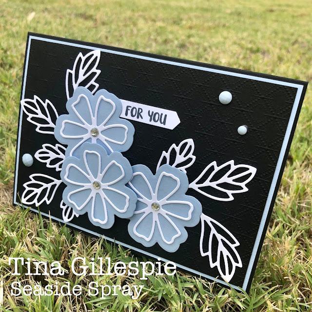 scissorspapercard, Stampin' Up!, Colour Creations, Pretty Perennials, Perennial Petals Dies, Dainty Diamonds 3DEF