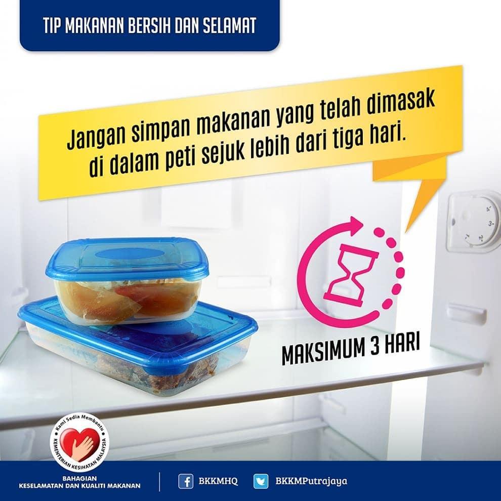 tips kkm keselamatan kebersihan makanan
