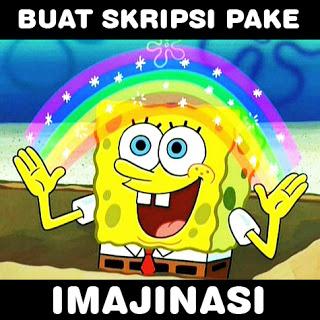 meme spongeboob imajinasi