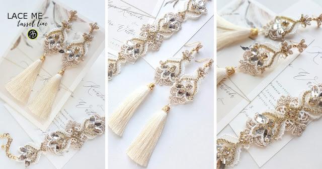 Biżuteria ślubna z chwostami.