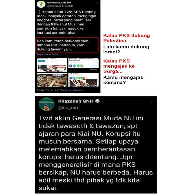 Twit Generasi Muda NU Yang Asal Beda dengan PKS Dapat Teguran! Gus Nadir: Sikap Seperti itu Tidak Sesuai Ajaran Para Kiai
