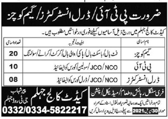 cadet-college-jhelum-jobs-2021-advertisement