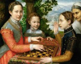 Cuadro jugando al ajedrez