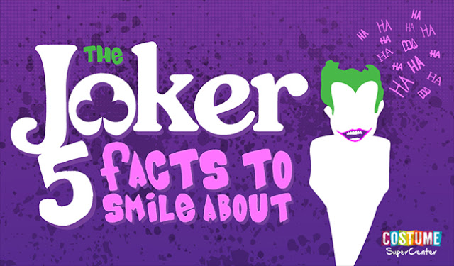 5 Facts About The Joker #infographic