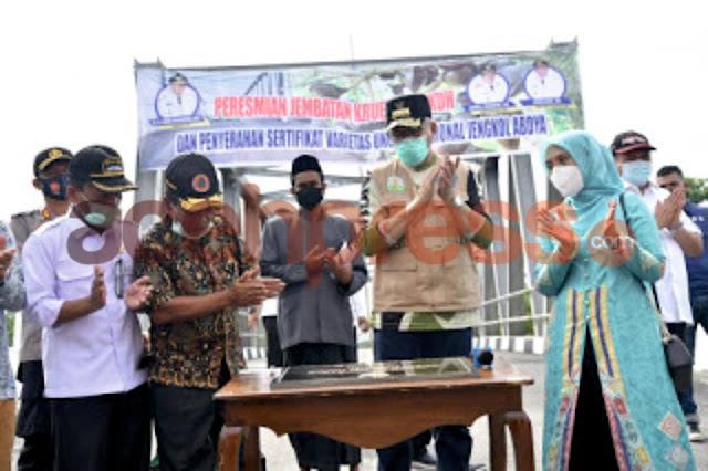 Gubernur Aceh Resmikan Jembatan Impian Rakyat Abdya