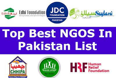 Top Best NGOS In Pakistan List of