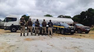 Caminhão tanque roubado em Candeias é recuperado no Sudoeste da Bahia