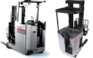 Nissan Stand-on Reach Truck