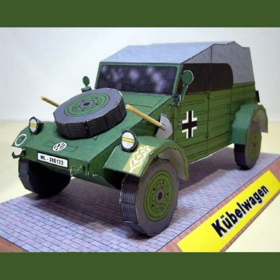 VW Kübelwagen Paper Model