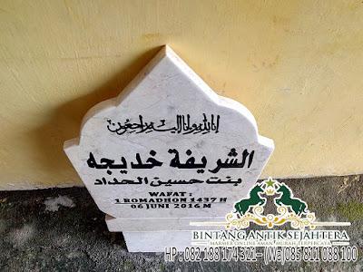 Harga Batu Nisan Islam, Harga Nisan Patok Islam, Harga Patok Nisan Marmer