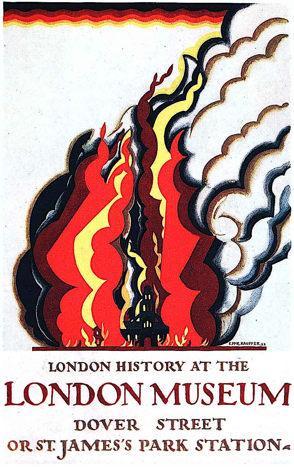 a poster for the London Museum by E. McKnight Kauffer