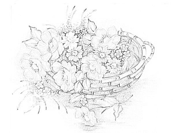 risco pano de prato flores