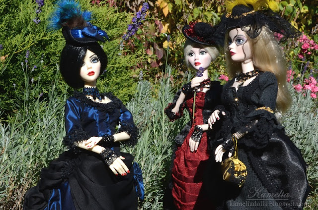 Victorian outfits for Evangeline Ghastly