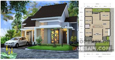 desain rumah ukuran tanah 12x17