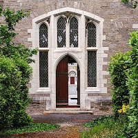 Pictures of Ireland: Courtyard at a church in Maynooth