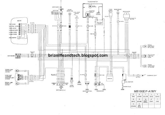 MODENAS CT100: ELECTRICAL WIRING DIAGRAM
