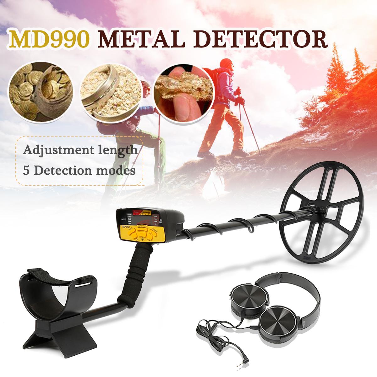 MD990 LCD Display Metal Detector Gold Digger Light Hunter Finder Deep Sensitive