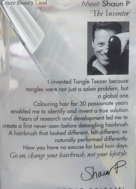 Creator of Tangle Teezer Detangling Hair Brush Shaun