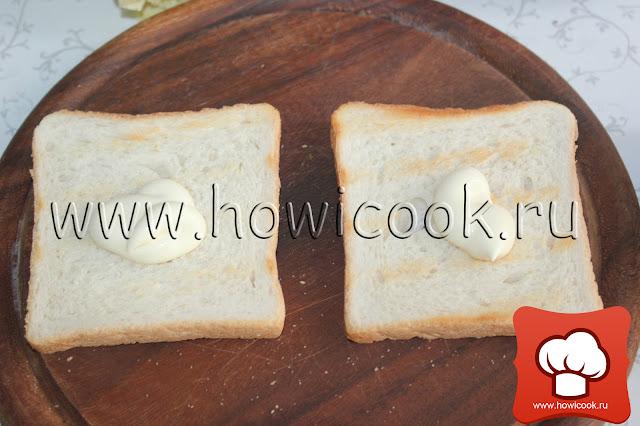 рецепт cэндвича с беконом, листовым салатом и помидором с пошаговыми фото