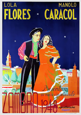 Lola Flores y Manolo Caracol en Zambra 1948 - A. Bernal