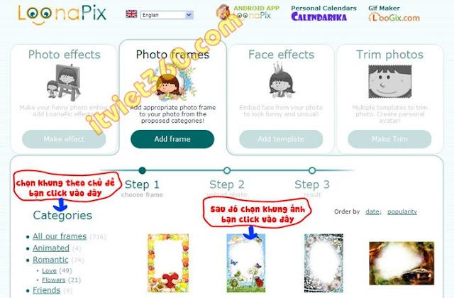 Ghép hình ảnh trực tuyến cho bé yêu - lồng khung online cực đẹp