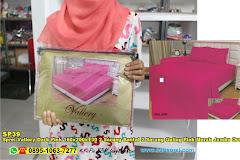 Sprei Vallery Dark Pink 160x200xT30 2 Sarung Bantal 2 Sarung Guling Pink Merah Jambu Ornamen Batik Polos Dewasa Serat Lidah Buaya