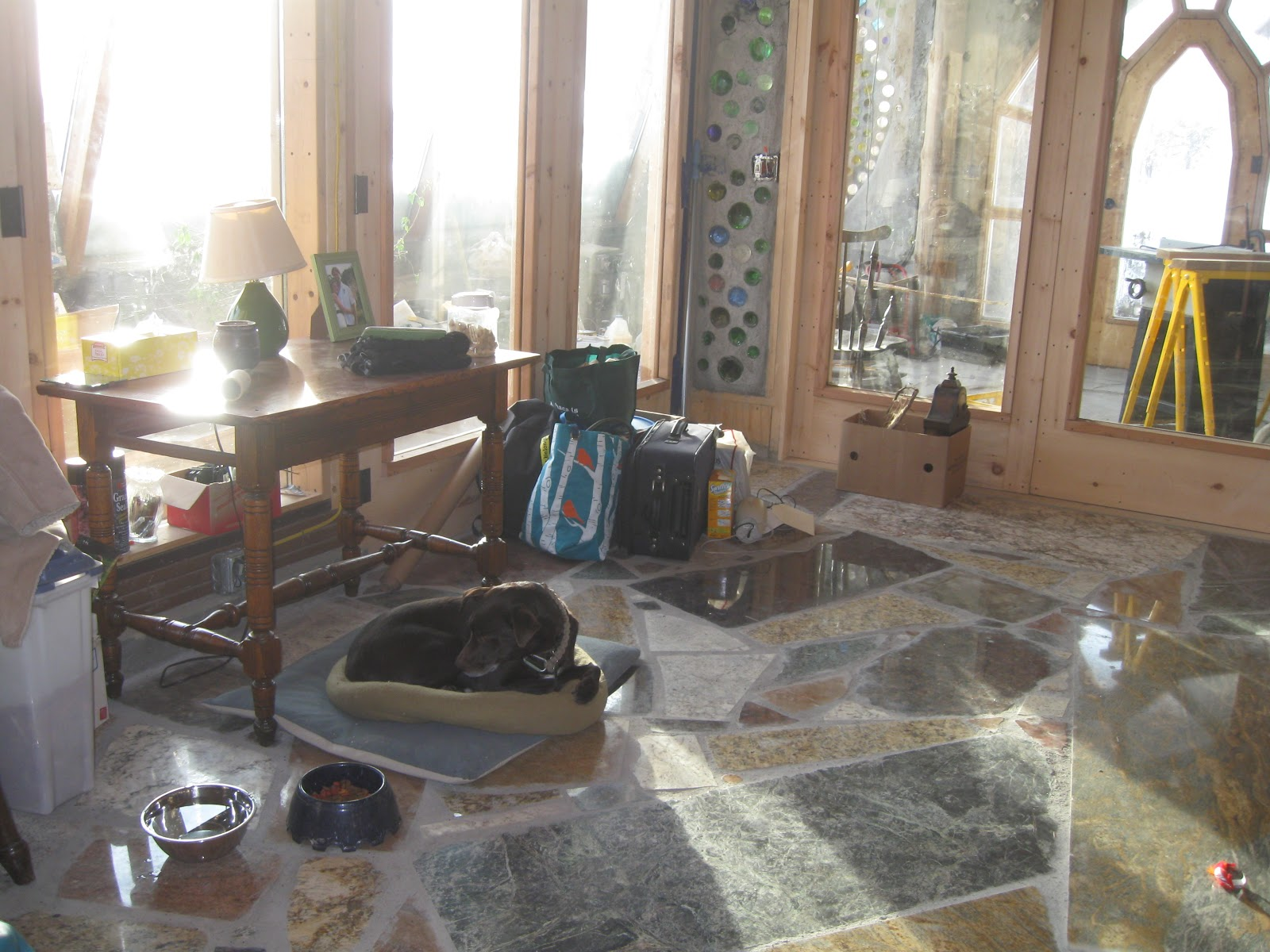 The Freeville Earthship Master Bathroom