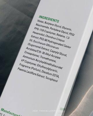 dewpre paeonia brightening fluid ingredients