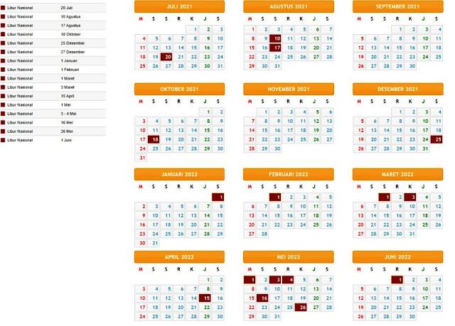 Terbaru Kalender Pendidikan Tahun Pelajaran 2021/2022 Provinsi Kepulauan Bangka Belitung