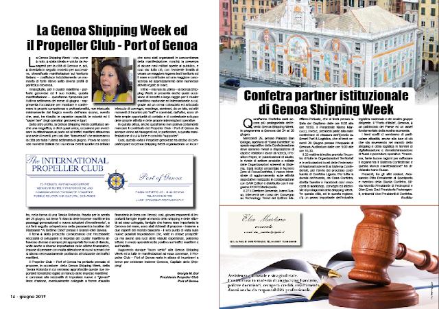 GIUGNO 2019 PAG. 16 - La Genoa Shipping Week ed il Propeller Club - Port of Genoa