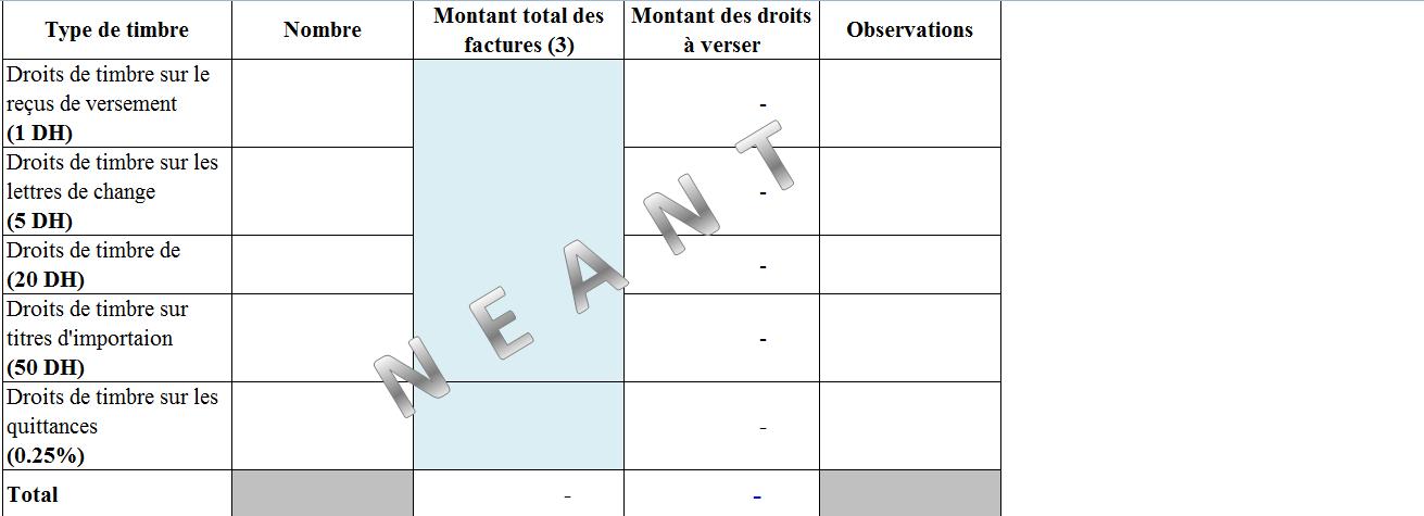 111 - Application Gratuit pour calculer et déclarations des droits Timbres au Maroc